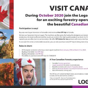 Osta LOGSET ja sõida Kanadasse